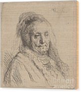 The Artist's Mother, Head And Bust Wood Print