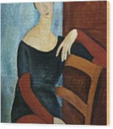 The Artist's Wife Wood Print by Amedeo Modigliani