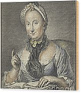 The Artist's Wife With A Book Wood Print