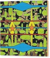 The Arts Of Textile Designs #3 Wood Print