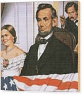 The Assassination Of Abraham Lincoln Wood Print by John Keay