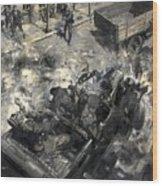The Assassination Of Reinhard Heydrich Wood Print