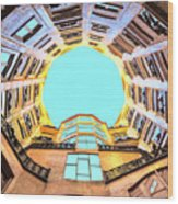 The Atrium At Casa Mila Wood Print