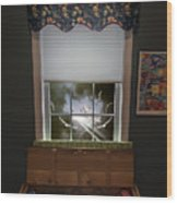 The Attic Window Wood Print