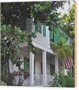 The Audubon House - Key West Florida Wood Print