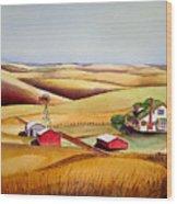 The Aune Farm Wood Print
