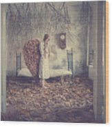 The Autumn Angel Wood Print