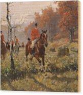 The Autumn Hunt Wood Print