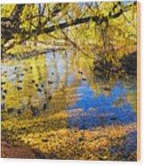 The Autumn Leaves Wood Print