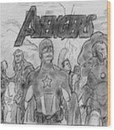 The Avengers Wood Print
