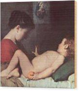 The Awakening Child Wood Print