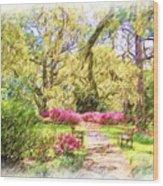 The Azalea Garden Wood Print
