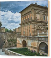 The Back Of The Pitti Palace In Florence Wood Print