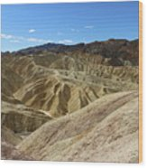 The Badlands Of Death Valley Wood Print