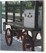 The Baggage Cart And Truck Wood Print