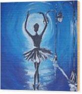 The Ballerina Dance Wood Print