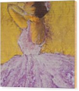 The Ballet Dancer Wood Print by David Patterson