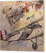 The Balloon Buster Wood Print