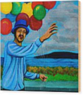 The Balloon Vendor Wood Print