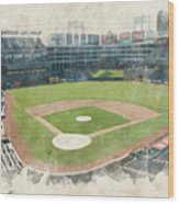 The Ballpark Wood Print by Ricky Barnard