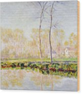 The Banks Of The River Epte At Giverny Wood Print