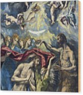 The Baptism Of Christ Wood Print