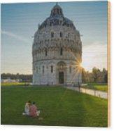 The Baptistery, Piazza Dei Miracoli Wood Print