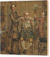 The Barber Wood Print