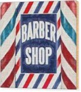 The Barber Shop Wood Print