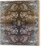 The Barking Yin Yang Wood Print