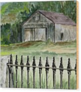The Barn At Parsonsfield Maine Wood Print
