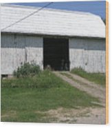 The Barn At The Farm Wood Print