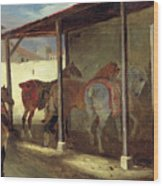 The Barn Of Marechal-ferrant Wood Print by Theodore Gericault