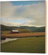 The Barn On Green Acres Wood Print