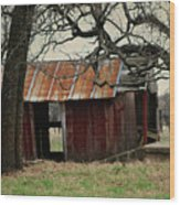 The Barn Out Back Wood Print