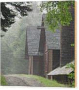 The Barns At Santanoni Wood Print by Judy Olson