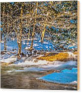 The Basin At Franconia Notch Wood Print