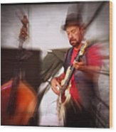 The Bass Player Wood Print