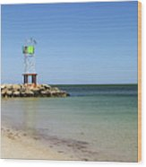 The Bass River Jetty South Yarmouth Cape Cod Massachusetts Wood Print by Michelle Wiarda