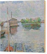 The Bateau Lavoir At Asnieres Wood Print