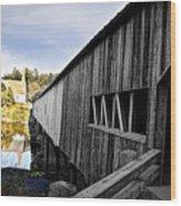 The Bath Covered Bridge Wood Print