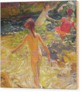 The Bath - Javea Wood Print