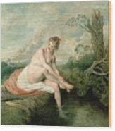The Bath Of Diana Wood Print