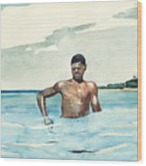 The Bather, 1899 Wood Print