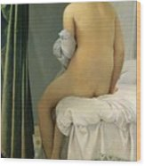 The Bather Wood Print by Jean Auguste Dominique Ingres
