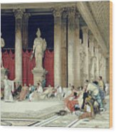 The Baths Of Caracalla Wood Print