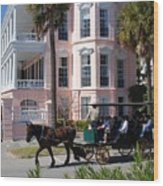 The Battery In Charleston Wood Print