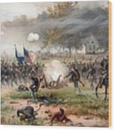 The Battle Of Antietam Wood Print