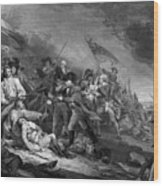 The Battle Of Bunker Hill Wood Print