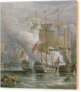 The Battle Of Cape St Vincent Wood Print